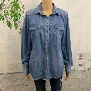 J. Crew Factory Snap Button Shirt